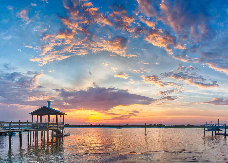 Beautiful sunset at Wrightsville Beach