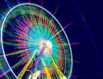 Ferris wheel at the county fair