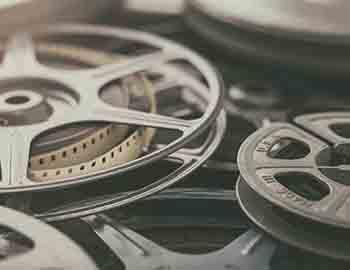 Film reel at a movie theatre