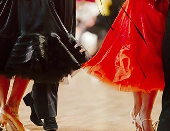 Feet of dancers
