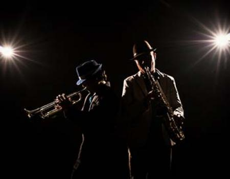 Jazz Musicians Playing Live Music
