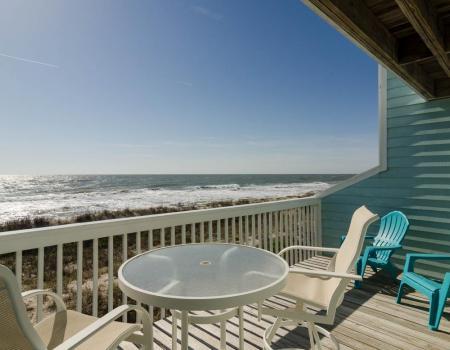 Oceanfront porch in Kure Beach, NC