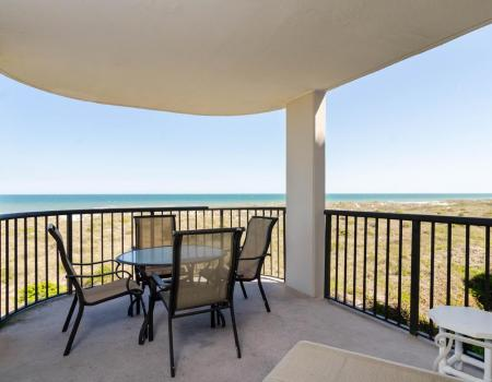 View of ocean from oceanfront porch