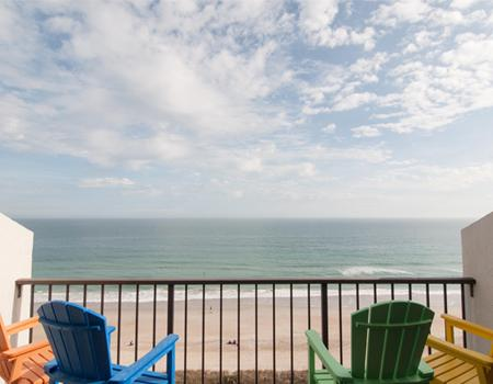 Ocean front vacation rental view