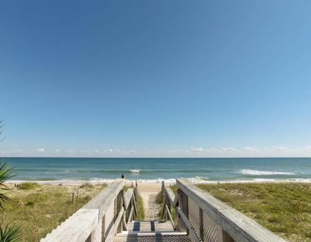 Ocean view from a Carolina Beach Property