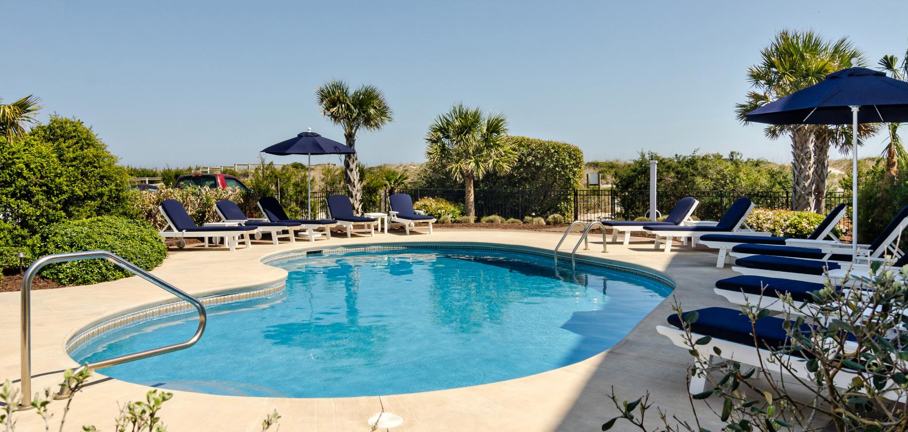 Pool at North Carolina vacation rental home