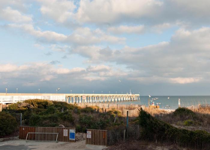 View of pier in Wrightsville Beach