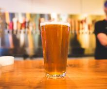 craft beer on bar
