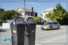 parking meter at a beach community