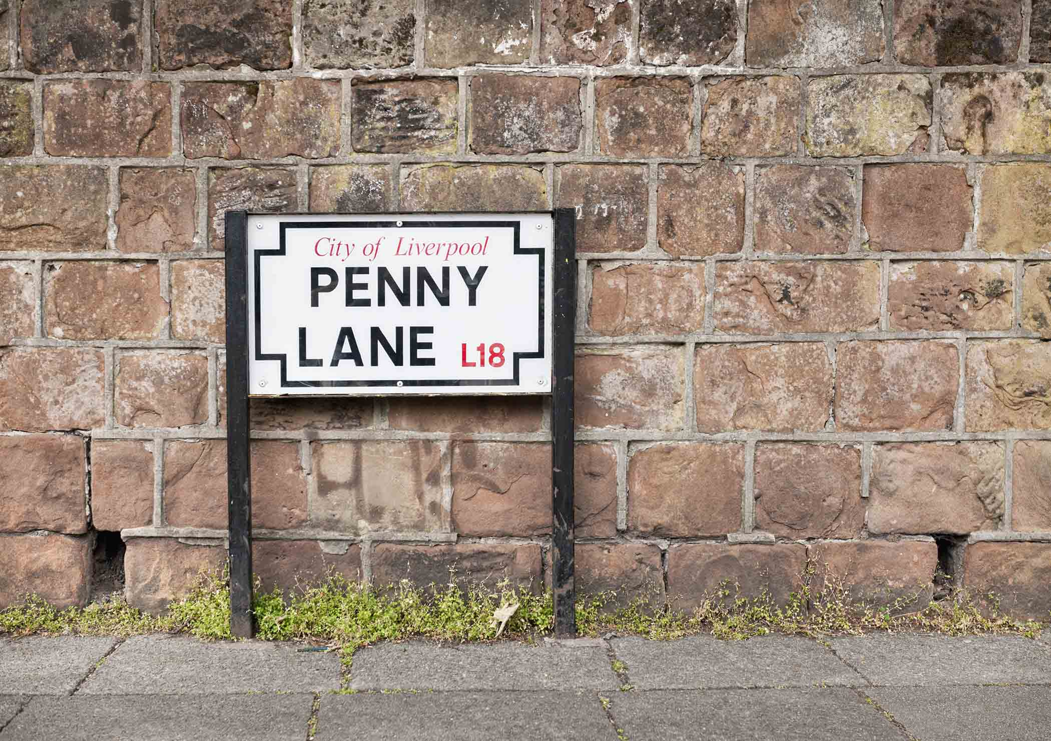 Penny Lane Beatles sign