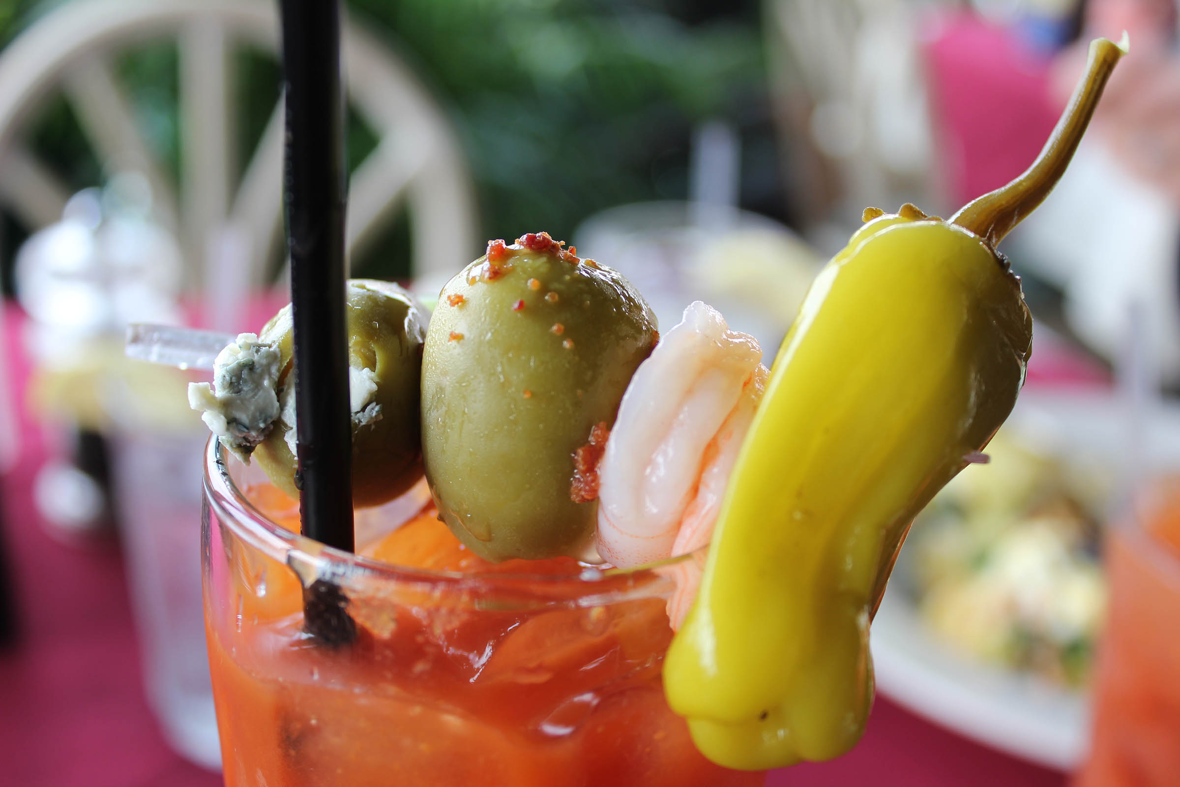Bloody Mary Cocktail with Shrimp