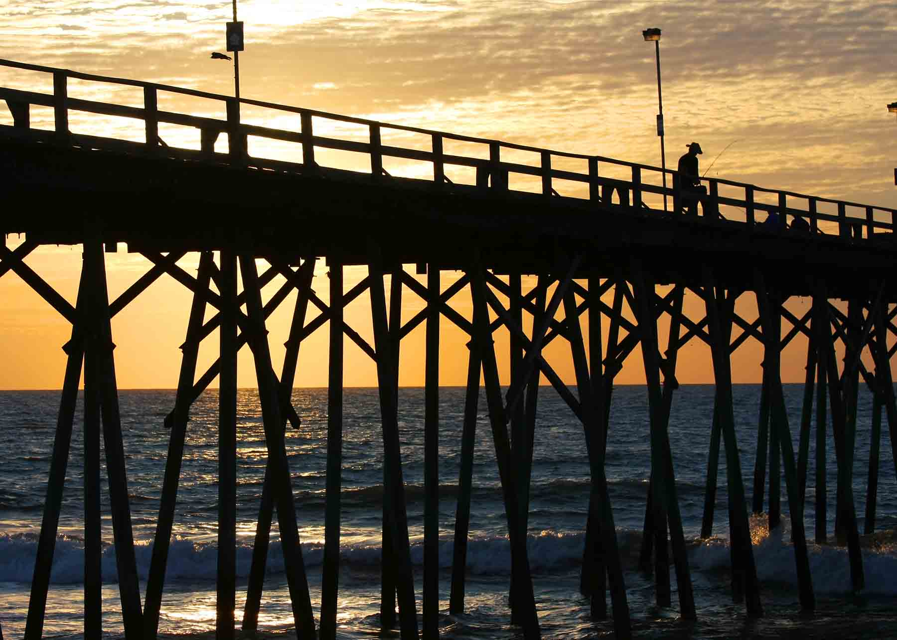 The pier at Kure Beach in North Carolina