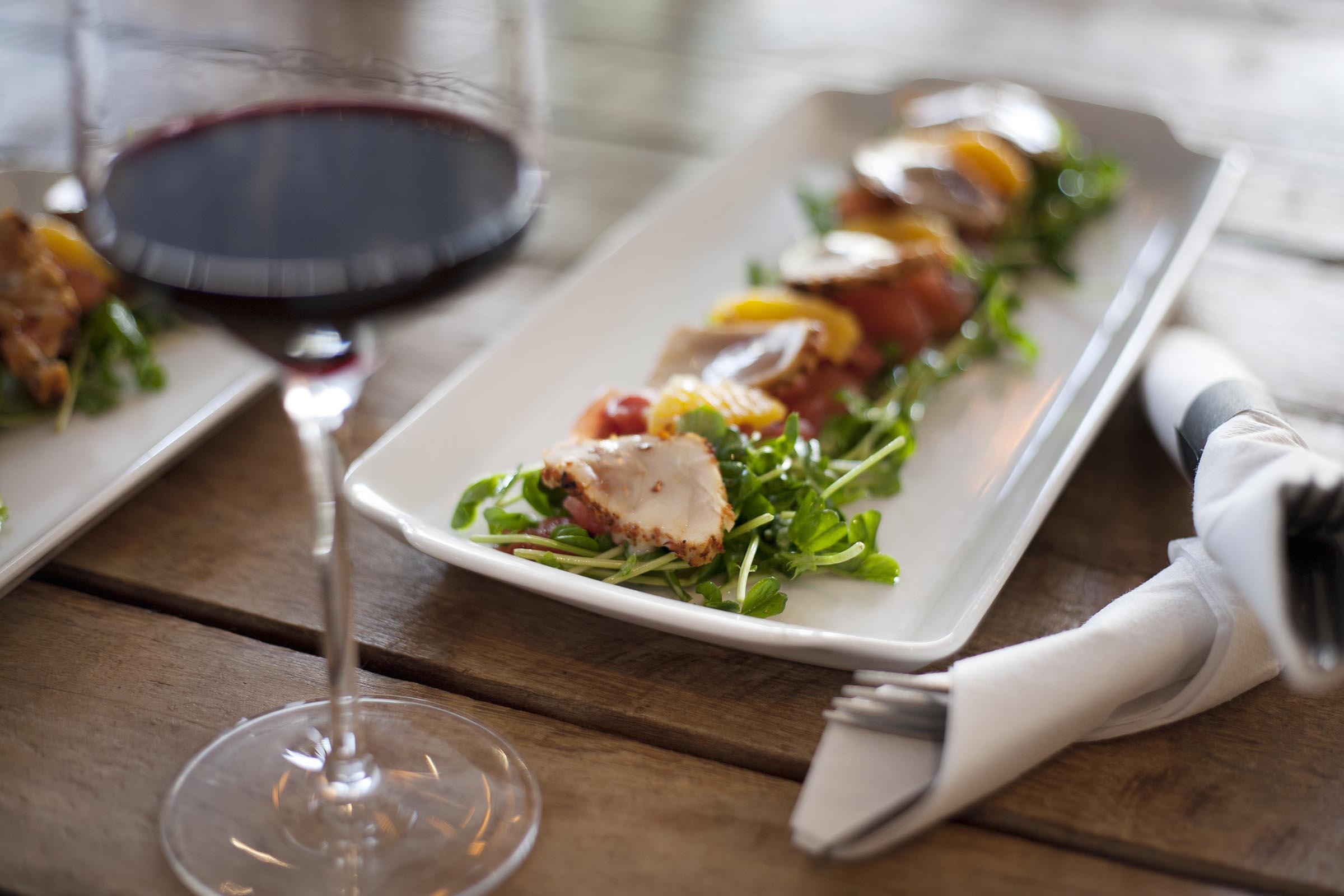 Fresh Tuna And Red Wine