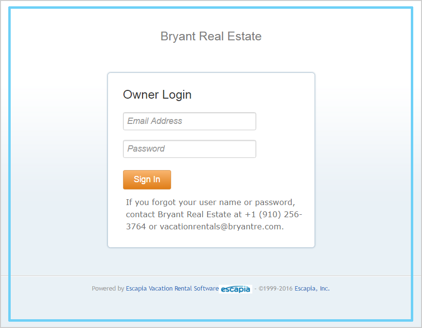 Owner Portal Log-in | Bryant Real Estate
