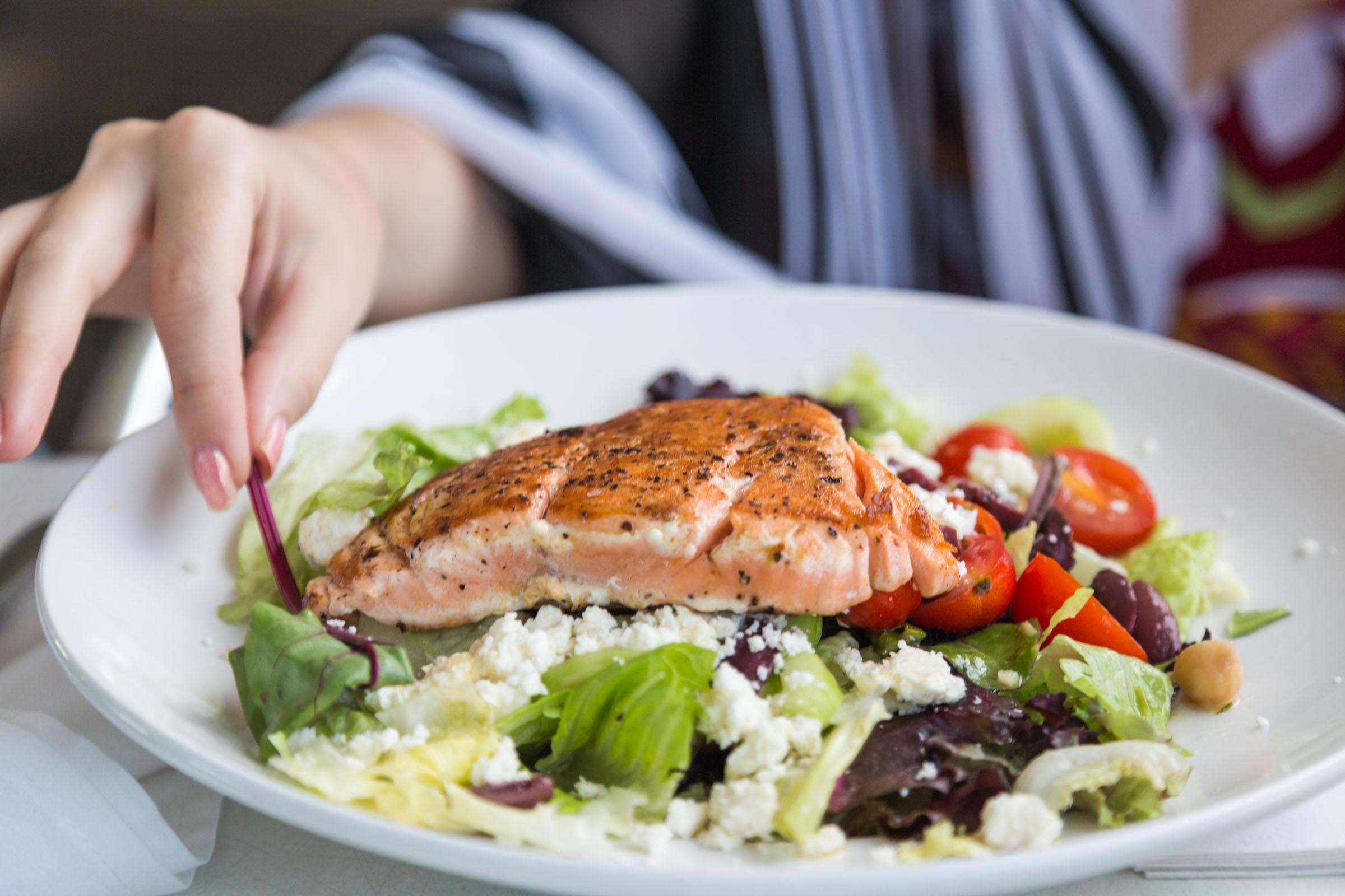 Fresh salad with tuna fish